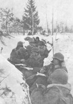 Soviet troops in a trench in Finland, 1939-1940