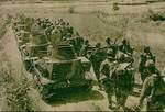 Japanese troops and light tanks near Wuhan, circa Aug-Oct 1938