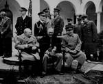 Churchill, Roosevelt, and Stalin at the Livadia Palace in Yalta, Russia (now Ukraine), Feb 1945, photo 2 of 4