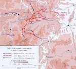 Map depicting the Battle of Zhijiang, 8 Apr-7 Jun 1945