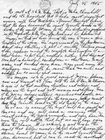 Harry Truman diary entry, 25 Jul 1945, page 1 of 2