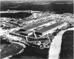Aerial view of K-25 uranium enrichment plant, Oak Ridge, Tennessee, United States, date unknown