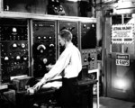 X-10 graphite reactor console and logbook, Oak Ridge, Tennessee, United States, date unknown