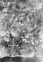 Aerial view of RAF Hal Far while under Italian attack, Malta, 1941