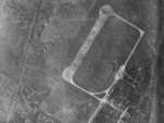 Reconnaissance photograph of the southern area of Heito Airfield, Heito (now Pingdong), Taiwan, 13 Oct 1944; photo taken by aircraft from USS Wasp