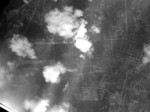 Aerial view of Heito Airfield, Taiwan from a B-29 bomber, 16 Oct 1944
