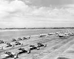 P-26 and B-18 aircraft at Hickam Field, US Territory of Hawaii, Jan 1940