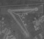 Aerial view of Hozan Airfield in Takao (now Fengshan District, Kaohsiung), Taiwan, Mar 1944