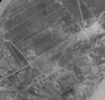 Aerial view of Kagi Airfield, southern Taiwan, post 14 Jan 1945 raid