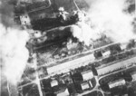 Kagi Airfield under carrier aircraft attack, Taiwan, 12 Oct 1944, photo 1 of 5