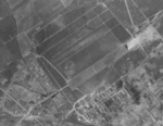 Aerial view of Kagi Airfield, Tainan, Taiwan, 1944-1945