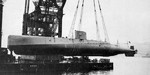 Launching of the experimental Submarine No. 71, Kure Naval Arsenal, Japan, 29 Aug 1938