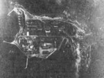Aerial view of Mako Guard District, Pescadores Islands, 12 Oct 1944