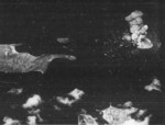 Mako Guard District, Pescadores Islands under US Navy carrier aircraft attack, 12 Oct 1944, photo 1 of 2