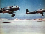 SB2U-3 Vindicator aircraft of US Marine Corps squadron VMSB-241 taking off from Eastern Island, Midway Atoll, 4-6 Jun 1942, photo 3 of 3
