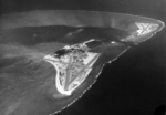 Aerial view of Midway Atoll, 1 Apr 1945