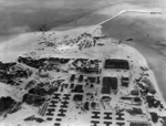 Aerial view of the under-construction seaplane base at Sand Island, Midway Atoll, 1941
