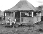 Living quarters, Nadzab Airfield, Australian New Guinea, early 1944