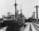 Transport USS Henderson in the Panama Canal, 1930s