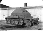 Modified SdKfz 10 halftrack vehicle at Peenemünde Army Research Center, Germany, 1940s