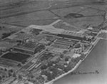 Aerial view of Naval Aircraft Factory at Philadelphia Navy Yard, Pennsylvania, United States, date unknown