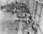 N3N trainer aircraft being constructed at the Naval Aircraft Factory at the Philadelphia Navy Yard, Pennsylvania, United States, 28 Jun 1937