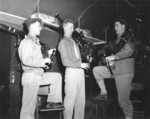 US Marine Corps musicians with bagpipes, Quantico, Virginia, United States, circa 1943