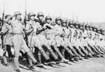 Chinese troops marching in Ramgarh, India, 1943