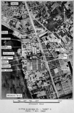 USAAF reconnaissance photograph of Nippon Aluminium Company facilities on the coast of Takao Harbor on the site of the former Reigaryo Airfield, southern Taiwan, Nov 1943