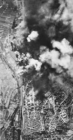 Schweinfurt, Germany during Allied bombing, 1943