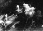 Taichu Airfield under attack by USS Ticonderoga carrier aircraft, Taichu (now Taichung), Taiwan, 3 Jan 1945, photo 3 of 3