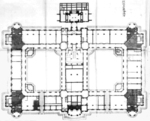 Architectural plans for the interior of Taihoku General Government Building of Taiwan by Matsunosuke Moriyama, circa 1910