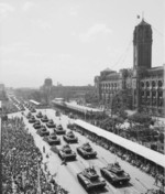 National Day parade before Presidential Office Building, Taipei, Taiwan, Republic of China, 10 Oct 1961, photo 3 of 4