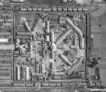 Aerial view of Taihoku Prison in Taihoku (now Taipei), Taiwan, 17 Jun 1945