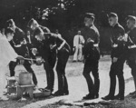 Hitler Youth members visiting the Meiji Shrine, Tokyo, Japan, Sep 1938, photo 2 of 2