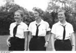 Girls of the Nazi Party Bund Deutscher Mädel organization, Potsdam, Germany, May 1935