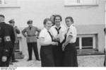League of German Girls leaders visiting Dachau Concentration Camp, Germany, 8 May 1936