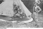 Members of the Hitler Youth in a tent at camp, 1930s