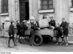 Hitler Youth members collecting scrap metal, 1930s