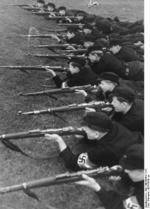 Hitler Youth members in weapons training, date unknown