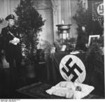 Baptism of a child born to a Lebensborn member, Germany, 1936, photo 4 of 4