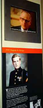Private First Class Eugene Sledge video exhibit at the National Museum of the Marine Corps, Quantico, Virginia, United States, 15 Jan 2007