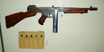 Thompson submachine gun on display at the National Museum of the Marine Corps, Quantico, Virginia, United States, 15 Jan 2007