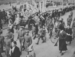 Celebration of Japanese victory in Singapore, Keijo (Gyeongseong, now Seoul), occupied Korea, Feb 1942