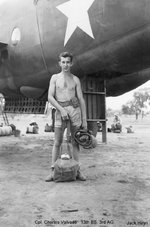 Radioman-gunner Corporal Charles Valade of 13th Bomb Squadron of USAAF 3rd Bomb Group at Charters Towers, Australia, early 1942
