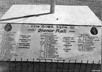 A memorial to fallen 13th Bomb Squadron, USAAF 3rd Bomb Group personnel at an airfield at Port Moresby, Australian Papua, 1943