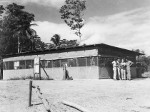 Mess hall at an airfield in Port Moresby, Australian Papua, early 1943