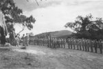 Award decoration ceremony for USAAF 3rd Bomb Group personnel, Port Moresby, Australian Papua, early 1943