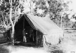 Photo shack at an airfield at Port Moresby, Australian Papua, early 1943