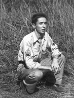 Staff Sergeant Marvin Culbreth of 13th Bomb Squadron of USAAF 3rd Bomb Group, Dobodura Airfield, Australian Papua, mid-1943